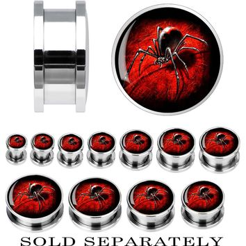 Steel Black Widow Spider Screw Fit Plug