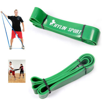 4.4cm Green Width Gym Premium Latex Pull Up Body Bands CrossFit Loop Resistance Band 50 to 125 Pounds of Resistance Band