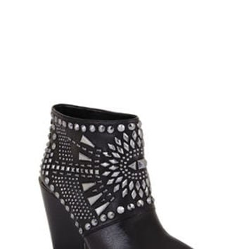 BCBG Creed Geometric-Studded Bootie