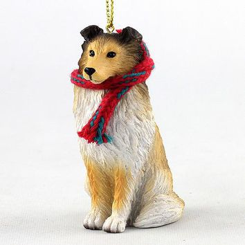 SHELTIE SABLE ORIGINAL ORNAMENT, LARGE