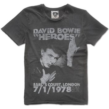David Bowie Men's  Heroes 1978 Slim Fit T-shirt Black