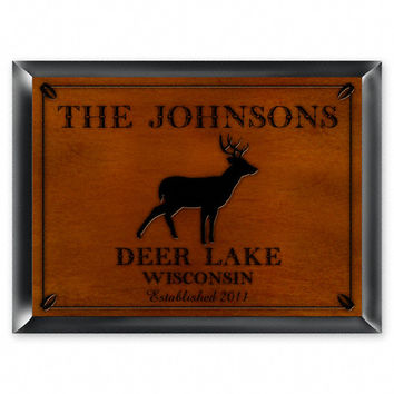 Personalized Traditional Cabin Or Lodge Sign