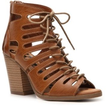 Rampage Venyce Caged Lace Up Sandals | shoeminded.com