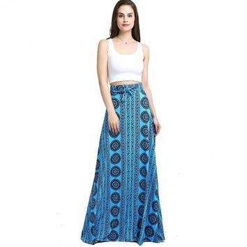 Two Pieces Printed Traditional Dress Set