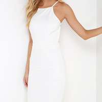 Anything For You Ivory Backless Dress