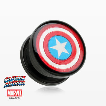 A Pair of Captain America Screw-Fit Acrylic Plug