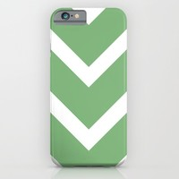 v lines wide - green and white iPhone & iPod Case by Her Art