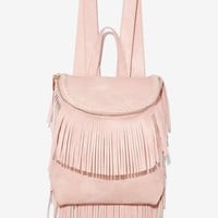 Blush With Fate Fringe Backpack