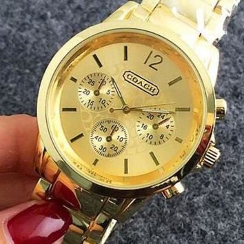 LMFONV COACH  Watch Women Men Fashon Watch Steel Watch B-Fushida-8899