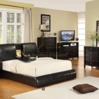 WILSHIRE QUEEN BED FRAME with FLIP DOWN STORAGE CUP HOLDER