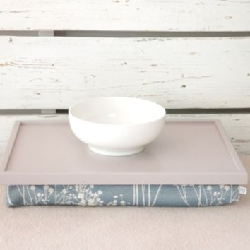 Supermarket: iPad stand or Laptop Lap Desk- Soft grey with greyish blue flower pillow from EJ butik