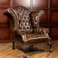 CLASSIC LEATHER WINGBACK CHAIR