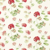 Geranium Cranberry Red Floral Wallpaper - at LAURA ASHLEY