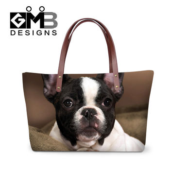 3D Animal Print Women's Handbags Cute Dog Messenger Bags Crossing Bag Large Tote Girls Shoulder Bag Ladies Female Bolsa Feminina