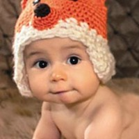 Fox Crochet Knit Hat Outfit Set Photography Prop - CCA58