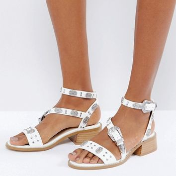 ASOS FRONT PAGE Western Flat Sandals at asos.com