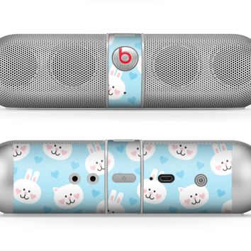 The Subtle Blue & White Faced Cats Skin for the Beats by Dre Pill Bluetooth Speaker