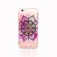 Pastel iPhone 6s Case Clear iPhone 6S Plus Case Mandala iPhone Case iPhone 6 Case Mandala Samsung Galaxy S6 Case Clear Henna iPhone Case