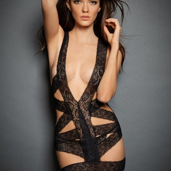 All Wrapped Up Lace Chemise and G String