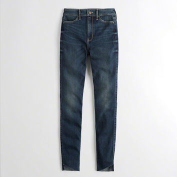 Girls Stretch Ultra High-Rise Super Skinny Jeans | Girls Bottoms | HollisterCo.com
