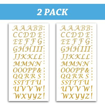 Peel and Stick Glitter Alphabet Letter Stickers for Grad Cap - Assorted Colors
