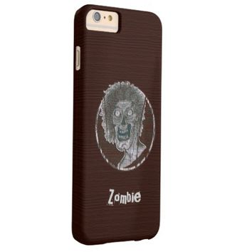 Zombie Distressed Looking Graphic Red/Grey Barely There iPhone 6 Plus Case