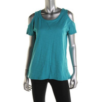 Two by Vince Camuto Womens Cotton Slub Knit Top