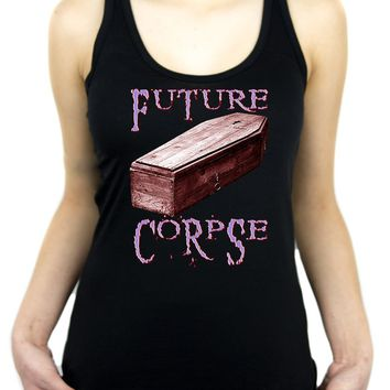 Future Corpse w/ Coffin Women's Racer Back Tank Top Shirt