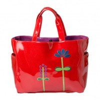 Wildflower Carry All Tote - Red
