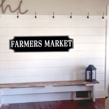 Farmers Market Vinyl Wall Words Decal Sticker Graphic