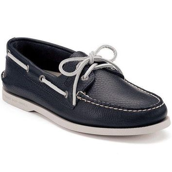 Men s Authentic Original Boat Shoe in Navy by Sperry 570270a23597