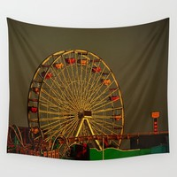 Pacific Park at sunset Wall Tapestry by Claude Gariepy