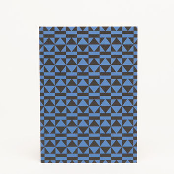 Peggy A6 Notecard - Klein Blue / black by Esme Winter