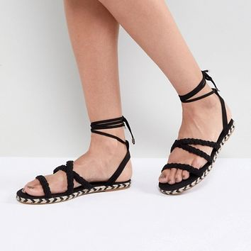 ASOS JACI Plaited Espadrille Sandals at asos.com