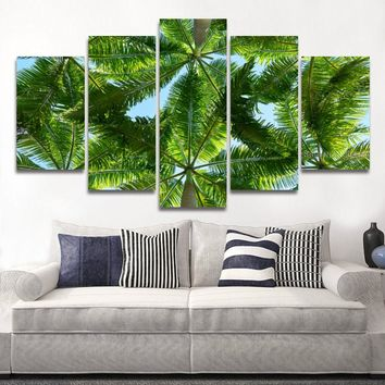Palm Tree Landscape Beach Modular Picture Artwork for Wall Art Bedroom Living Room