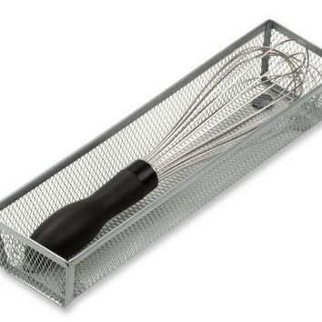 "Honey-Can-Do™ KCH-02160 Steel Wire Mesh Drawer Organizer, Silver, 12"" x 3"" x 2"""