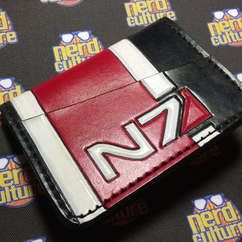 Mass Effect Hand Tooled CEO Card Wallet