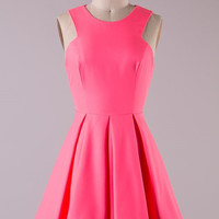Dinner Party Dress - Neon Pink