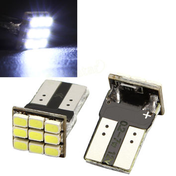 2 x T10 194 168 W5W 9-SMD Car White LED Light DC 12V License Plate Lamp Car Accessories EA10681