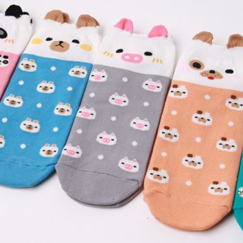 Cute Animal Face Socks