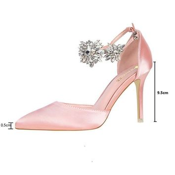 BIGTREE sandals women clear platforms silver sandals with rhinestones wedge woman high heels silk shallow mouth pointed diamond
