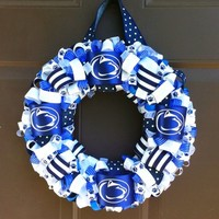 Penn State Wreath Ribbon for Front Door