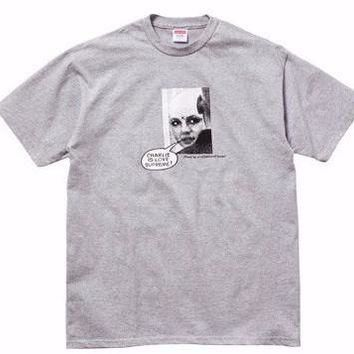 Supreme Charlie Is Love Tee - Grey