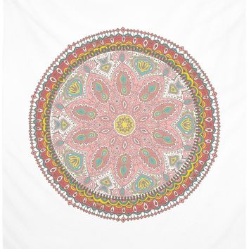 Red Mandala Bohemian Pink And Maroon Wall Tapestry Hippy Boho
