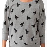 Ditsy Horse Print Pullover