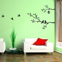 Cute Birds and Branches Decal  Vinyl Wall Sticker by SimpleShapes