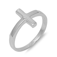 925 Sterling Silver Protection Cross Ring