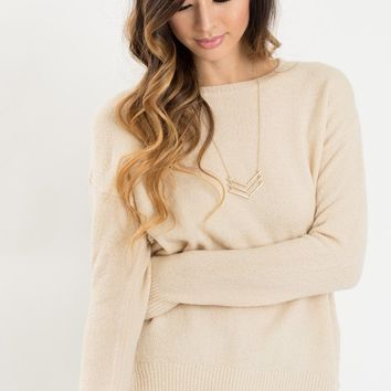 Nellie Cream Knit Pullover Sweater