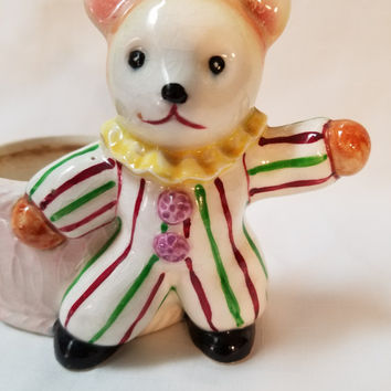 Clown Bear Planter, Vase (863)