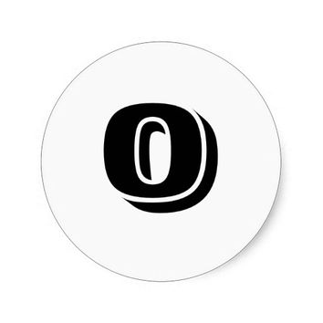 Zero Small Round White Number Stickers by Janz